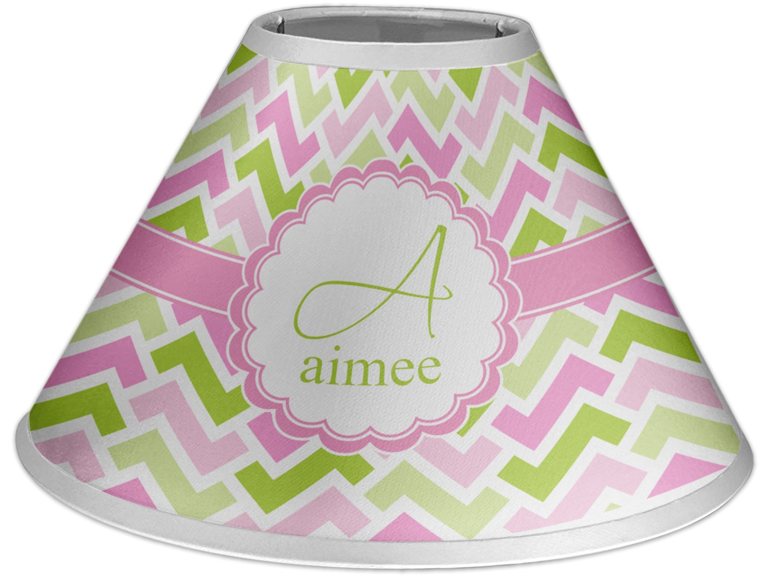 pink green geometric coolie lamp shade personalized you. Black Bedroom Furniture Sets. Home Design Ideas