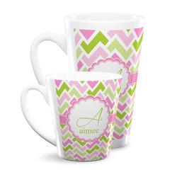 Pink & Green Geometric Latte Mug (Personalized)