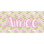 Pink & Green Geometric Front License Plate (Personalized)