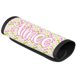 Pink & Green Geometric Luggage Handle Cover (Personalized)