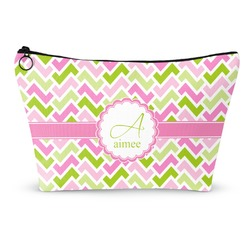 Pink & Green Geometric Makeup Bags (Personalized)