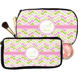 Pink & Green Geometric Makeup / Cosmetic Bag (Personalized)
