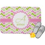 Pink & Green Geometric Memory Foam Bath Mat (Personalized)