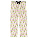Pink & Green Geometric Mens Pajama Pants (Personalized)