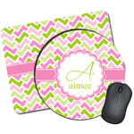 Pink & Green Geometric Mouse Pads (Personalized)