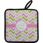 Pink & Green Geometric Pot Holder (Personalized)