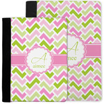 Pink & Green Geometric Notebook Padfolio w/ Name and Initial
