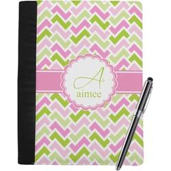 Pink & Green Geometric Notebook Padfolio (Personalized)