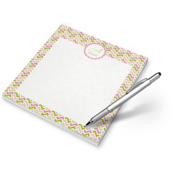 Pink & Green Geometric Notepad (Personalized)