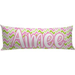 Pink & Green Geometric Body Pillow Case (Personalized)