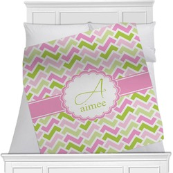 Pink & Green Geometric Blanket (Personalized)