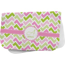 Pink & Green Geometric Burp Cloth (Personalized)