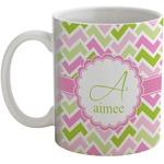 Pink & Green Geometric Coffee Mug (Personalized)