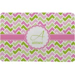 Pink & Green Geometric Comfort Mat (Personalized)