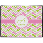 Pink & Green Geometric Door Mat (Personalized)