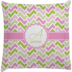 Pink & Green Geometric Euro Sham Pillow Case (Personalized)