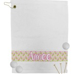 Pink & Green Geometric Golf Towel (Personalized)