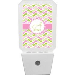 Pink & Green Geometric Night Light (Personalized)