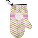 Pink & Green Geometric Right Oven Mitt (Personalized)