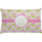 Pink & Green Geometric Pillow Case (Personalized)