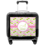 Pink & Green Geometric Pilot / Flight Suitcase (Personalized)