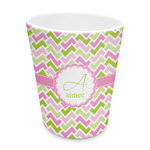Pink & Green Geometric Plastic Tumbler 6oz (Personalized)