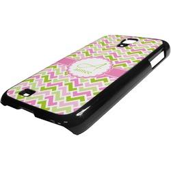 Pink & Green Geometric Plastic Samsung Galaxy 4 Phone Case (Personalized)