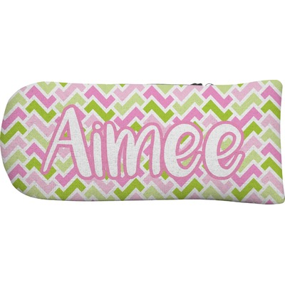 Pink & Green Geometric Putter Cover (Personalized)