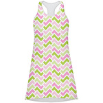 Pink & Green Geometric Racerback Dress (Personalized)