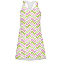 Pink & Green Geometric Racerback Dress (Personalized)