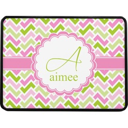 Pink & Green Geometric Rectangular Trailer Hitch Cover (Personalized)