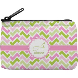 Pink & Green Geometric Rectangular Coin Purse (Personalized)