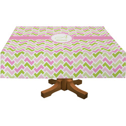 Pink & Green Geometric Tablecloth (Personalized)