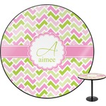Pink & Green Geometric Round Table (Personalized)