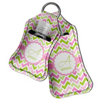 Pink & Green Geometric Hand Sanitizer & Keychain Holder (Personalized)