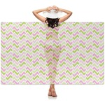 Pink & Green Geometric Sheer Sarong (Personalized)