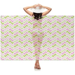 Pink & Green Geometric Sheer Sarong (Personalized)