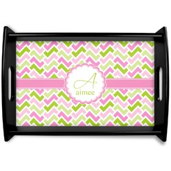 Pink & Green Geometric Wooden Trays (Personalized)