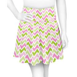 Pink & Green Geometric Skater Skirt (Personalized)