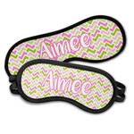 Pink & Green Geometric Sleeping Eye Masks (Personalized)