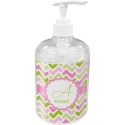 Pink & Green Geometric Soap / Lotion Dispenser (Personalized)