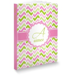 Pink & Green Geometric Softbound Notebook (Personalized)