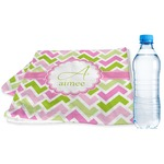 Pink & Green Geometric Sports & Fitness Towel (Personalized)