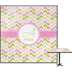 Pink & Green Geometric Square Table Top (Personalized)
