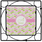 Pink & Green Geometric Square Trivet (Personalized)