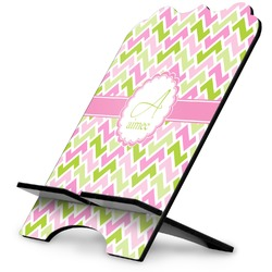 Pink & Green Geometric Stylized Tablet Stand (Personalized)