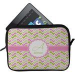 Pink & Green Geometric Tablet Case / Sleeve (Personalized)