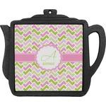 Pink & Green Geometric Teapot Trivet (Personalized)