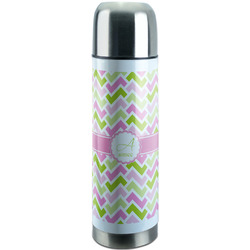 Pink & Green Geometric Stainless Steel Thermos (Personalized)