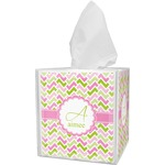 Pink & Green Geometric Tissue Box Cover (Personalized)